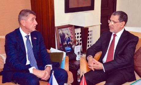 Visite officielle au Maroc du Premier ministre tchèque à la tête d'une importante délégation