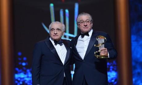 Martin Scorsese honore Robert De Niro au festival de Marrakech