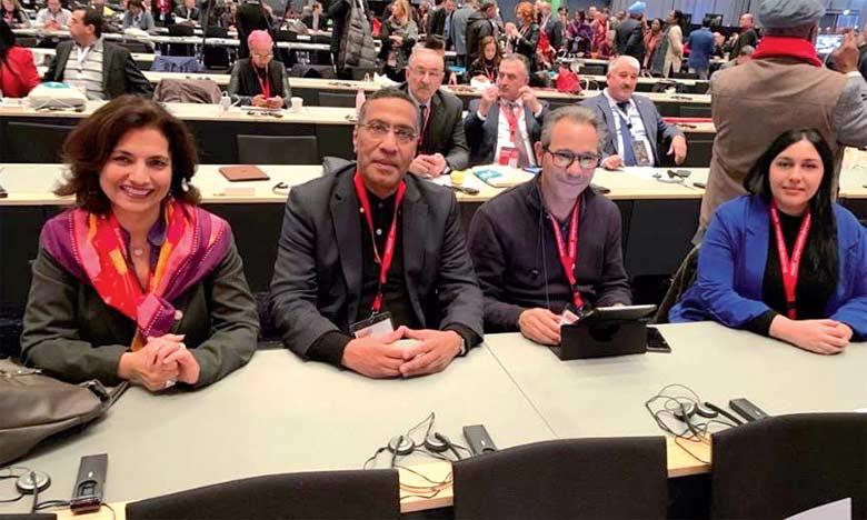 Miloudi Moukharik, le secrétaire général de l'UMT, a présidé la délégation de son syndicat prenant part à ce congrès aux côtés de Mohamed Ouafi, Amal Laamri et Najoua Lkhili.