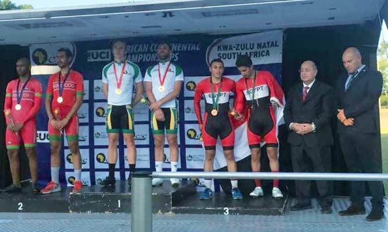 Quatre médailles marocaines  au Championnat d'Afrique  de cyclisme sur piste