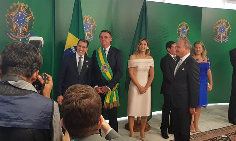 Saâd Eddine El Othmani représente S.M. le Roi à l'investiture du Président brésilien