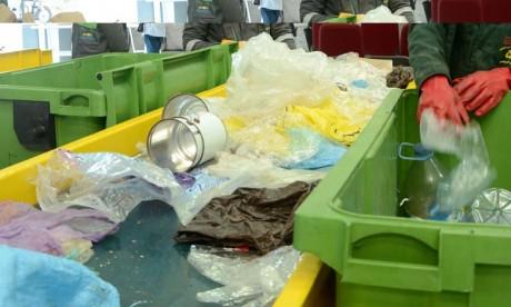Le centre de tri et de valorisation des déchets ménagers et assimilés permettra de valoriser 50% des déchets ménagers de la commune de Marrakech dans la perspective de traiter les 50% restant. Ph : DR