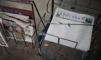 Un journal publie une Une blanche pour protester contre l'embargo sur le papier et l'encre