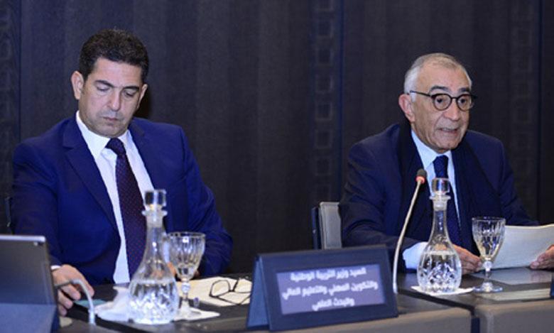 Saïd Amzazi présente le bilan d'étape du chantier de la réforme du système éducatif