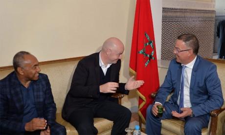 Gianni Infantino serait en faveur d'une candidature maroco-ibérique pour l'organisation de la Coupe du monde 2030