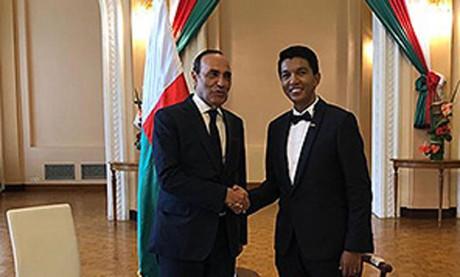 Habib El Malki représente S.M. le Roi  à la cérémonie d'investiture du nouveau Président malgache