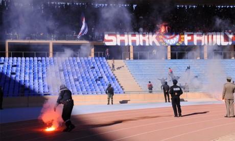 Au lieu de fêter la victoire, les fans de l'OCS sèment la terreur au grand stade de Marrakech