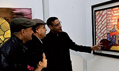 Vernissage de l'exposition  «Un moment de réflexion»de  l'artiste-peintre Radouane Chegdali