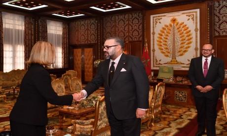 S.M. le Roi reçoit la chef de la diplomatie européenne, Federica Mogherini