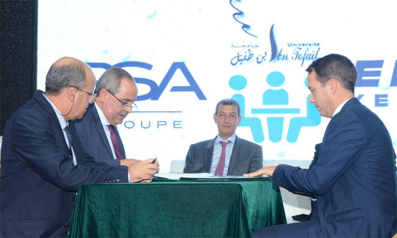 L'Université Ibn Tofaïl et PSA Maroc s'engagent pour l'employabilité des jeunes