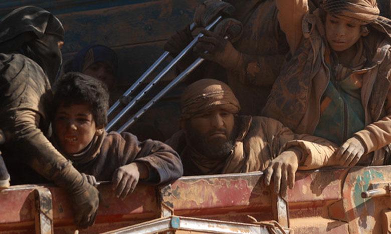 Plus de 32.000 personnes, principalement des familles de jihadistes, ont quitté depuis début décembre 2018 les territoires conquis par Daech. Ph. AFP