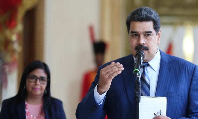 Nicolas Maduro, aux côtés de soldats vénézuéliens le 27 janvier 2019  à Puerto Cabello.                                                                                            Ph. Reuters
