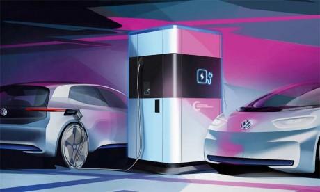 Volkswagen présente sa station de recharge mobile