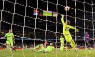L'attaquant français du FC Barcelone Ousmane Dembélé inscrit un but contre Levante en Coupe du Roi, au Camp Nou. Ph : AFP