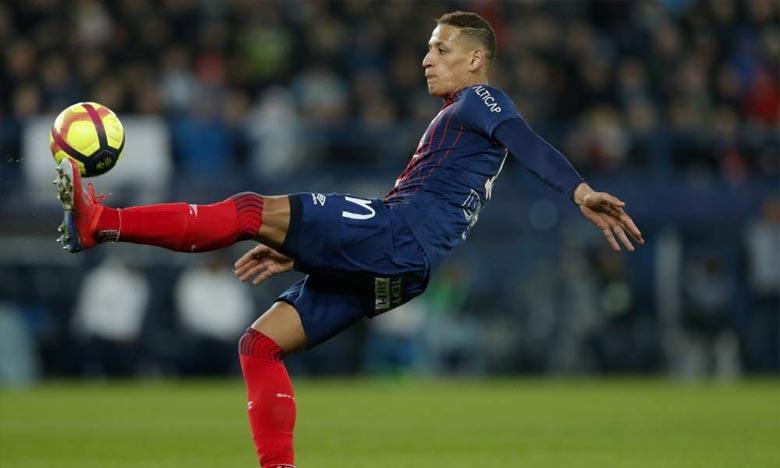 A l'issue du match remporté par les Caennais (6-0), le footballeur marocain, qui a marqué dès la 4e minute, a déclaré à la presse avoir pensé à Sala dès que la balle a touché les filets. Ph : DR