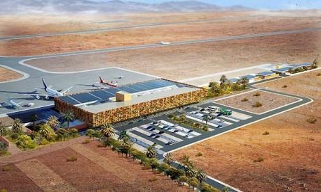 La nouvelle aérogare de l'aéroport de Guelmim accueille son premier vol