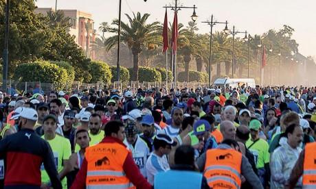 Au fil de 30 années d'enthousiasme et de cohésion, le Marathon de Marrakech s'est érigé en une école de promotion et de lancement de grandes stars  de cette discipline.                                      Ph. Benjamin Cherasse