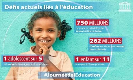 La journée mondiale de l'éducation célébrée pour la première fois ce jeudi