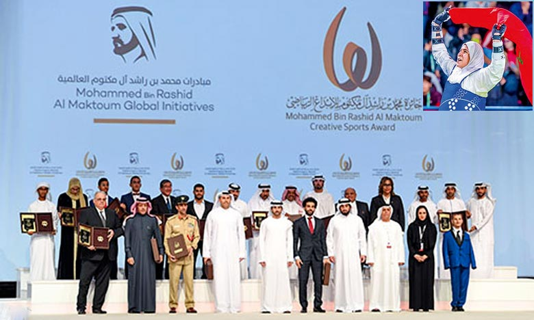 Fatima Zohra Abou Fares et Abdennour Lafdini ont respectivement décroché les prix du «sportif arabe ayant réalisé des résultats distingués dans le domaine sportif» et des «personnes à besoins spécifiques». Ph. DR