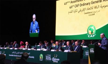 La CAF décline le calendrier2019