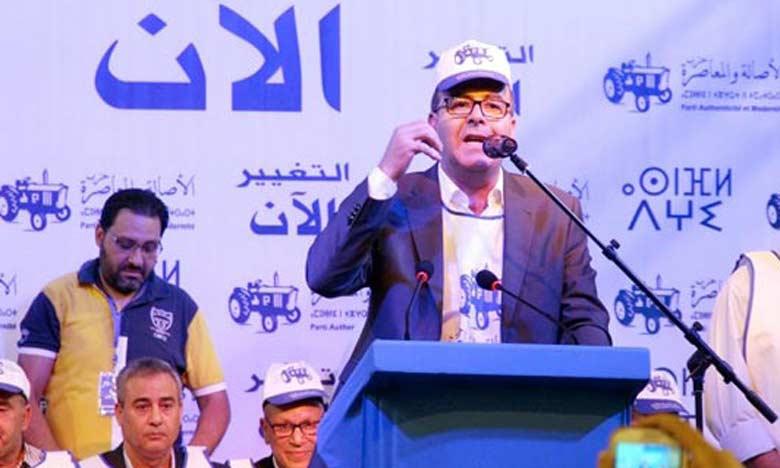 Hakim Benchamach, secrétaire général du PAM.