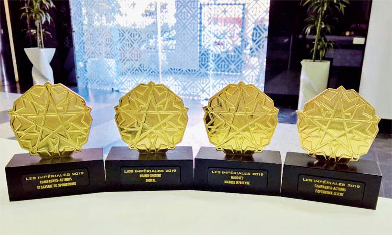 À l'issue des Impériales2019, Inwi a reçu 4 étoiles dans les catégories marque, campagne et Brand.