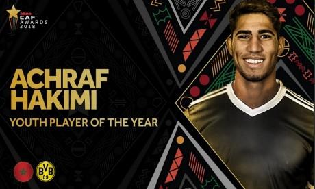 CAF awards  Achraf Hakimi meilleur jeune espoir de l'année, Faouzi Lakjaa primé