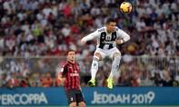 La Juventus a remporté la Supercoupe d'Italie en s'imposant face à l'AC Milan (1-0), grâce à un but de Cristiano Ronaldo (61e). Ph :  AFP