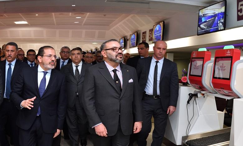 S.M. le Roi inaugure le nouveau Terminal1 de l'aéroport Mohammed V de Casablanca et lance la mise en service de plusieurs infrastructures aéroportuaires de portée nationale