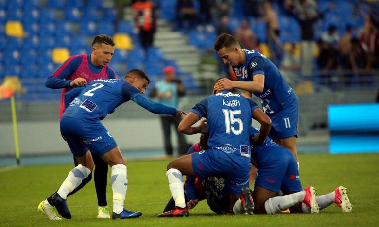 Lors de cette séance, le moral de tous les joueurs ainsi que celui du staff technique du club Ittihad Riadhi de Tanger (IRT) étaient au beau fixe. Ph : Seddik