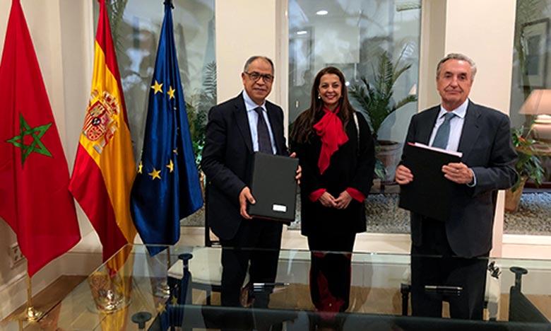 Le mémorandum d'entente a été signé, à Madrid, prend appui sur la qualité des relations de partenariat et d'amitié entre les deux Royaumes. Ph : MAP