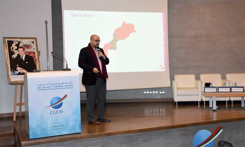 L'événement a été l'occasion de présenter les résultats intermédiaires d'une étude en cours sur la perception du phénomène4.0 dans l'entreprise  marocaine du cabinet Officium et de l'OMPM.                                                                                                                                                                                                                Ph. Saouri