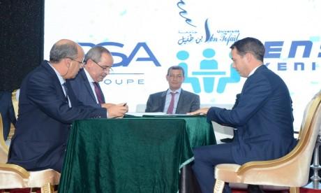 Industrie automobile : L'Université Ibn Tofaïl et PSA Maroc convolent en justes noces