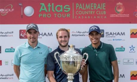 Ahmad Marjane (à droite) est le premier Marocain à figurer sur un podium de l'Atlas Pro Tour 2019.