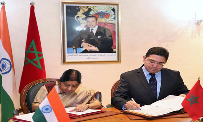 Le Maroc et l'Inde donnent une nouvelle impulsion à leur coopération