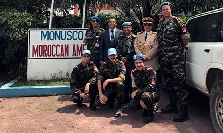 Les militaires marocains jouissent d'une très bonne réputation aussi bien dans leurs régions de déploiement qu'auprès des autorités de la République Démocratique du Congo (RDC) . Ph : MAP