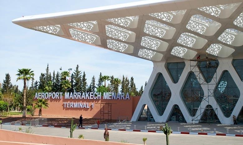 Hausse notable du trafic aérien à l'aéroport international de Marrakech-Menara