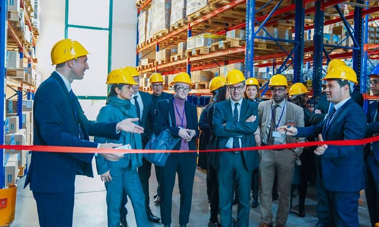 Inauguration du module de marquage  de sérialisation en présence notamment du management de Servier Maroc et des représentants du groupe Servier. Ph. DR