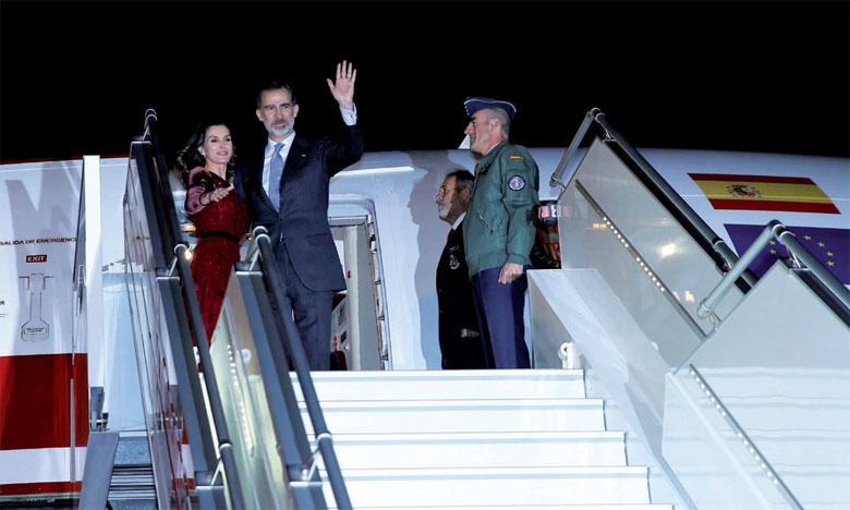 Fin de la visite au Maroc  de SaMajesté le Roi Felipe VI d'Espagne et la Reine Doña Letizia