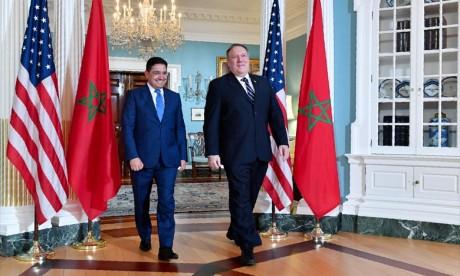 Le ministre des Affaires étrangères et de la Coopération internationale, Nasser Bourita a rappelé, à Washington, pour qui «l'Afrique doit figurer en tête des priorités de l'agenda de la Coalition mondiale anti-Daesh». Ph : DR