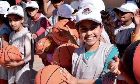 Le bonheur dont est porteuse cette initiative était palpable sur les frimousses des élèves de l'école Oued Lahjar.