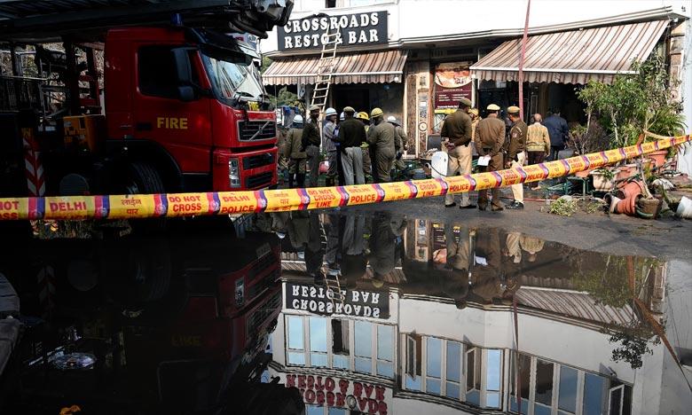 L'incendie s'est déclaré vers 4h30 du matin à l'hôtel «Arpit Palace» à cause d'un court-circuit. Ph : DR