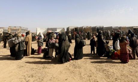 Les civils quittent la dernière poche de Daech