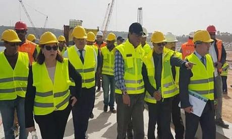 Les travaux de la première phase du projet de construction du nouveau port de Safi quasi achevés