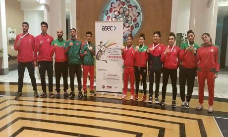 Six médailles au compteur des athlètes marocains