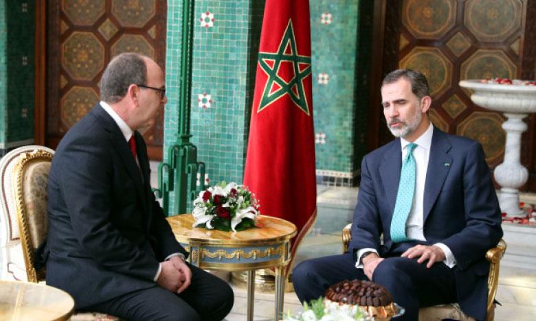 Sa Majesté le Roi Don Felipe VI d'Espagne  reçoit le président de la Chambre des conseillers