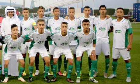 L'équipe du Raja de Casablanca de football des moins de 17 ans (U17) s'est imposé 1-0 devant l'hôte d'Aspire Academy, en ouverture de compétition dans le groupe A. Ph : DR