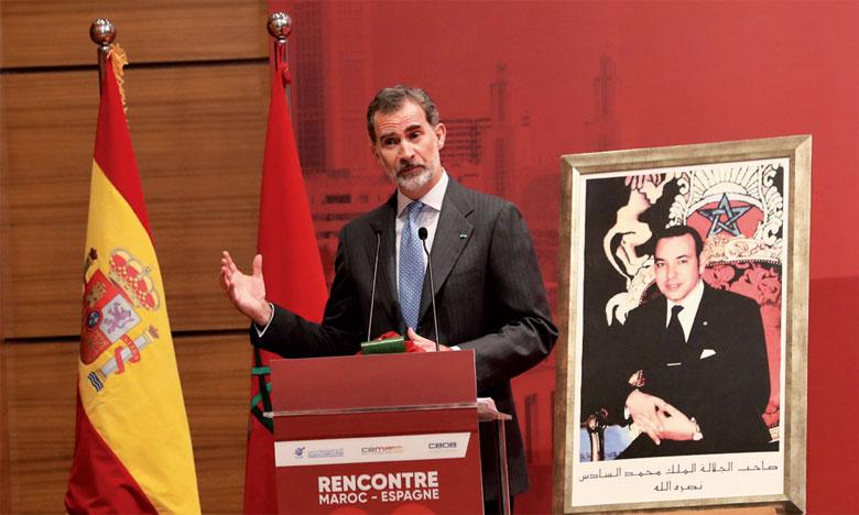 S.M. le Roi Felipe VI est optimiste quant à l'avenir des relations entre Rabat et Madrid.