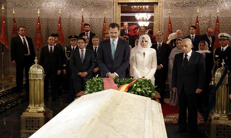 Le Roi Felipe VI et la Reine Leitizia visitent le Mausolée Mohammed V