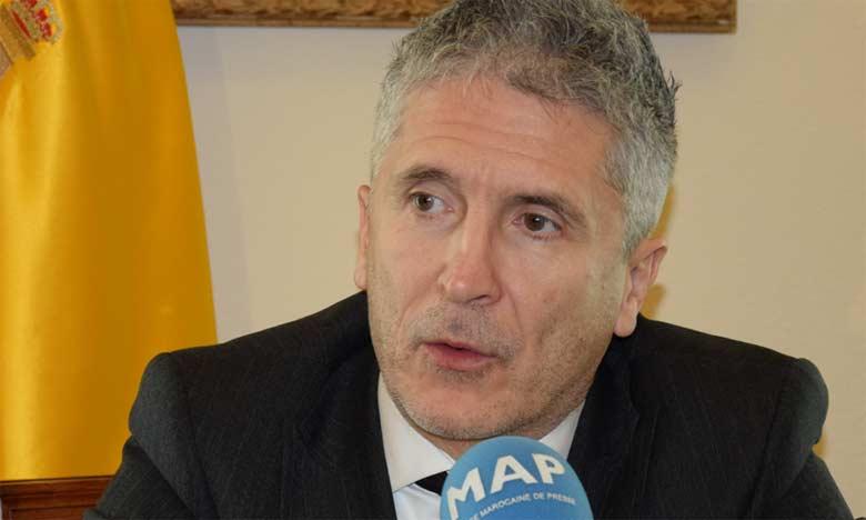 Le ministre espagnol de l'Intérieur: «La visite officielle des Souverains espagnols au Maroc, un événement distingué illustrant les relations fraternelles entre les deux Familles Royales»